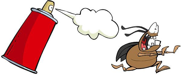 Bug Spray Cartoon - Anti-Virus
