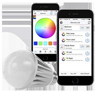Wifi controlled multi color smart light bulb
