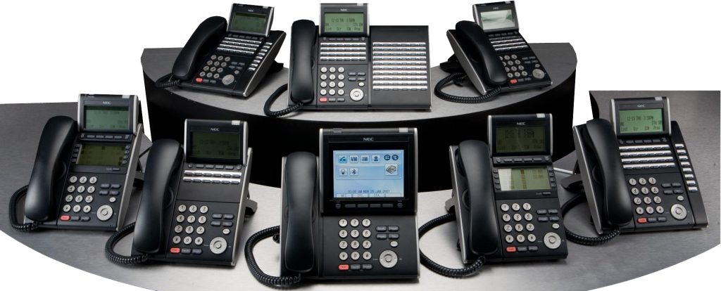 A display of business VoIP Phone Systems